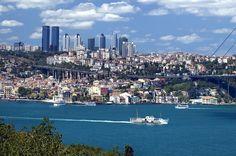 Boğaz'dan ürkütücü İstanbul manzarası