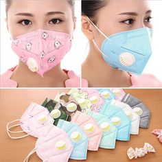 20pc Men Women PM2.5 mouth mask Breath valve Anti Haze disposable Mask anti-dust mouth mask Mouth-muffle respirator Face mask