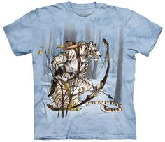 The Mountain White Tiger Spirit Hunter Men's T-shirt - http://bandshirts.org/product/the-mountain-white-tiger-spirit-hunter-mens-t-shirt/