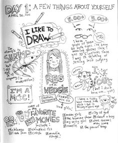 30 Days of Lists… Drawn | Wedgie's sketch blog