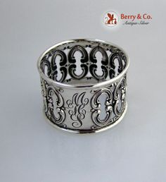 Frank Whiting Antique Sterling Napkin Ring