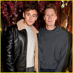 Tom Daley & Dustin Lance Black Couple Up at Michael Kors Fragrance Party