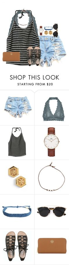 """follow me on vsco: emilyghines"" by emmig02 ❤ liked on Polyvore featuring Free People, Daniel Wellington, Tory Burch, Pura Vida, Christian Dior and Billabong"