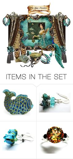 """""""The Sea Maiden"""" by tornpaperco ❤ liked on Polyvore featuring art"""