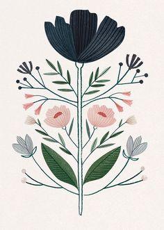 Ideas flowers illustration pattern draw water colors for 2019 Art And Illustration, Flowers Illustration, Floral Illustrations, Portrait Illustration, Illustration Botanique, Arte Popular, Motif Floral, Floral Design, Art Design