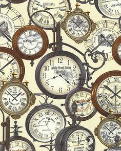 Railway Express - Station Clocks - Cream