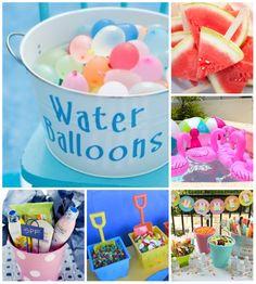 Festa na piscina - dia das criancas #festanapiscina #party #pool #girl | from blog www.crisrezende.com