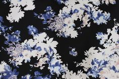 Poly Scuba Splodge Floral Print Dress Fabric Material (Black/Pale Pink/Blue) in Crafts, Fabric   eBay