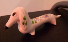 Little 70s ceramic Dachshund