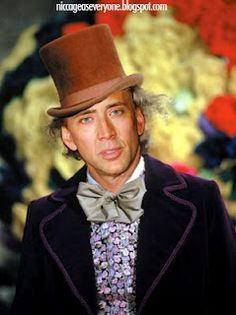 Nic Cage as Willy Wonka