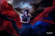 Red and Blue Gothic by MazzAank