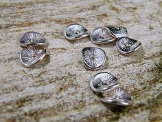 (50) Tibetan Style Spacer-Wavy Disc Beads  Silver  9.5mm #Unbranded #Spacer