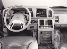 Ford HFX Hia Aerostar concept car - dashboard (IAA, 9/87)