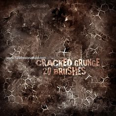 Cracked Grunge - Download  Photoshop brush http://www.123freebrushes.com/cracked-grunge/ , Published in #GrungeSplatter. More Free Grunge & Splatter Brushes, http://www.123freebrushes.com/free-brushes/grunge-splatter/ | #123freebrushes
