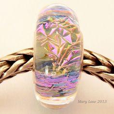 CELEBRATION Dichroic Sparkle Bead for Pandora Troll by glasslight, $38.00