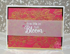 Embellished Dreams: The Stamp Simply Ribbons Store - Altenew Live Life In Full Bloom Card and Tutorial