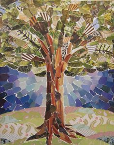 Torn Paper Tree Collage | Flickr - Photo Sharing!