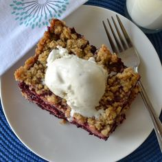 This Lip Smacking Good Blackberry Crisp is delicious warm or cold, topped with vanilla ice cream or simply dished out. Learn how to make it now!