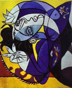 """art-mysecondname: """"Pablo Picasso - Ragazza Su Un Cuscino 1936"""""""
