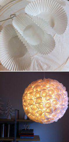 Paper Cupcake Liners Lamp