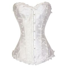 9235550e822 Cheap Deluxe Elegant Jacquard Weave Corset White online - All Products