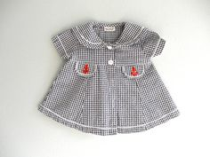 Red White and Blue Baby Girl Dress Nautical by ThePoshBabyShoppe on Etsy