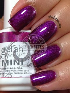 "to GET Gelish ""Berry Buttoned Up"""