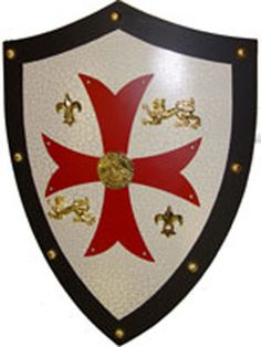 Medieval Knight Templar Shield. The Middle Ages saw the emergence of a military order called the Poor Fellow-Soldiers of Christ and of the Temple of Solomon. Their name was to become the Templar Knights, or the Knights Templar. http://www.middle-ages.org.uk/knights-templar.htm