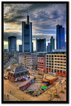 Skyline Frankfurt HDR, Germany