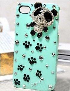 #Blingbling. Cute panda iPhone case
