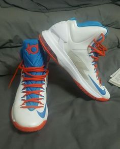 Mens Nike Kevin Durant (Kd) Athletic Basketball Athletic Shoes Sneakers Sz 12