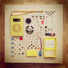Disassembly of a vintage transistor radio by Andrea Reed