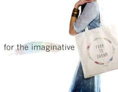 "For the imaginative. Our limited edition ""Free to Dream"" bag #fairtrade #organic #fashion #dream"
