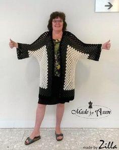 Hex no Hex Cardigan / Vesten & Vestjes - Cardigans / Haken - Crochet Granny Square Crochet Pattern, Crochet Granny, Knit Crochet, Crochet Summer, Crochet Jacket, Crochet Cardigan, Shrug Sweater, Shrug Pattern, Models