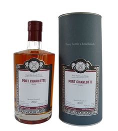 Port Charlotte 2002. Matured in a bourbon hogshead and finished off in a oloroso sherry cask for six months. From the Isle of Islay, a gently peated and interesting profile. £76.50 For full tasting notes and to buy please visit our website www.maltsofscotlanduk.com