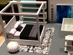 Cool miniature modern dollhouses by PRD Miniatures.