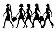 Free Image on Pixabay - Silhouette, Women, Work, Walking Public Domain, Moms' Night Out, Best Walking Shoes, Woman Silhouette, Free Black, You Look, Boss Lady, Feminism, To My Daughter