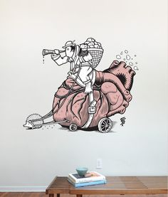 Blik Wall Decals: Over-sized, removable Wall Graphics and now with Jeremy Fish.