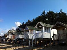 Beach huts--fun!