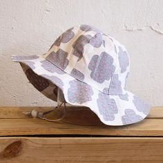 Grey Crying Cross Panelled Sunhat by Sunday the Label available now at www.blakeandleo.co.nz