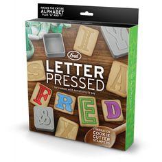 Fred Keks-Ausstechformen-Set - Letter Pressed, 28-teilig