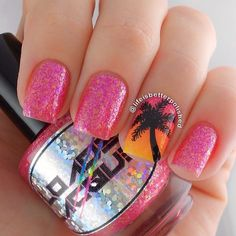 Cute palm tree nails tropical Ideas for 2019 Hawaii Nails, Florida Nails, Cruise Nails, Vacation Nails, Sunset Nails, Beach Nails, Palm Tree Nails, Diy Nail Designs, Beachy Nail Designs