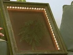 How to Make Lighted Shadow Boxes : Archive : Home & Garden Television - rope lighting in a shadow box