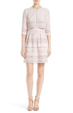 Rebecca Taylor Rebecca Taylor Adeline Eyelet Embroidered Popover Dress available at #Nordstrom