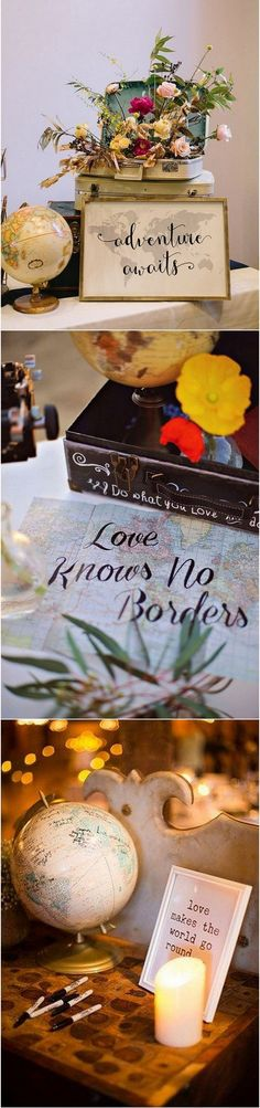 Travel themed wedding ideas #weddingthemes #weddingideas #weddingdecor