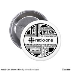 Radio One Show Titles 2 Inch Round Button