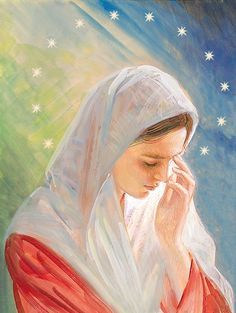 Mother Mary crying for us