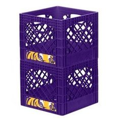 LSU Tigers Dairy Crate... I want these for my classroom!