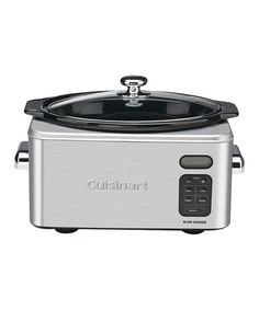 Make cooking healthy, hearty meals easier with the help of this handy cooker. It features a precise, convenient 24-hour LCD countdown timer, and four cooking modes and an automatic warming function when the set time ends to perfectly prepare dishes. The removable pot makes cleanup a snap for even the busiest chefs.By CuisinartIncludes slow cooker and reci...