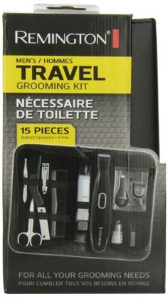 Remington TLG-100ACDN 15-Piece Travel Grooming Kit, Black. For product & price info go to:  https://beautyworld.today/products/remington-tlg-100acdn-15-piece-travel-grooming-kit-black/
